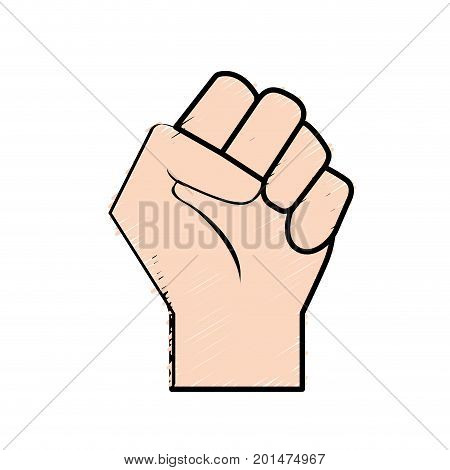 hand tight with all fingers design vector illustration