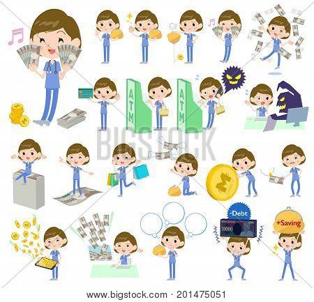 Surgical Operation Blue Wear Women_money