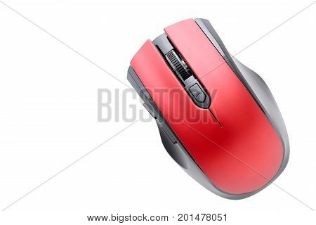 top view of computer mouse isolated on white background