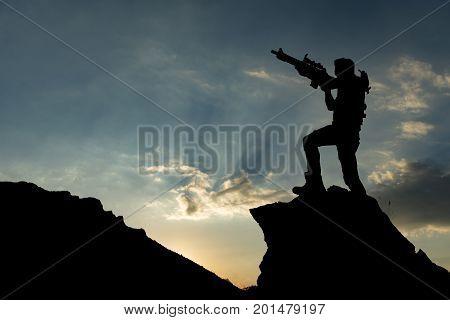 space Trooper target & gun shooting position