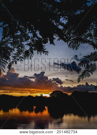 Twilight Sunset Sky And Cloud Background