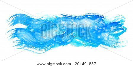 Watercolor hand painting textures.Stains, spot drops, splashes. Watercolor blue, cyan color design template.Vintage blur , summer background.Holiday, vacation artistic texture, sea waves water sky