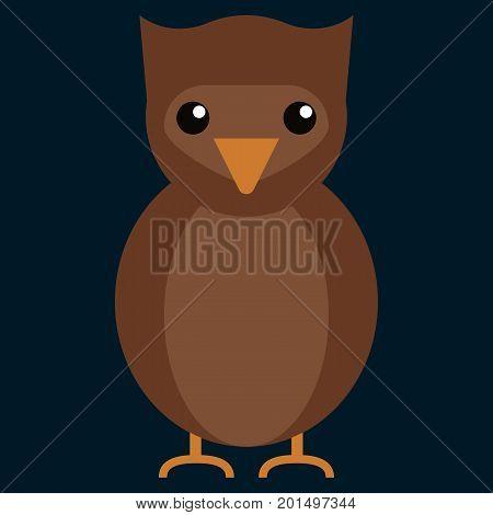 Owl education flat icon, vector sign, colorful pictogram isolated on black. Symbol, logo illustration. Flat style design