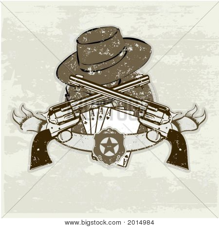 Two Guns And  Hat