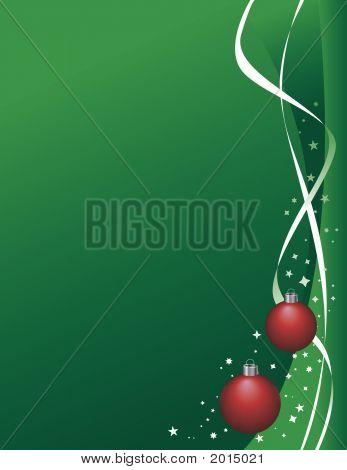 Christmas Green Ribbon