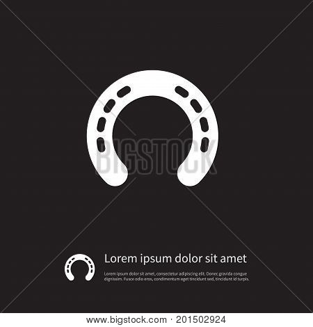 Horse Vector Element Can Be Used For Shoe, Horseshoe, Metal Design Concept.  Isolated Metal Icon.