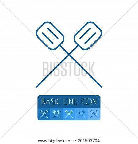Canoe Vector Element Can Be Used For Rowing, Canoe, Kayak Design Concept.  Isolated Rowing Outline.