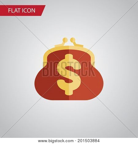 Saving Vector Element Can Be Used For Billfold, Saving, Pouch Design Concept.  Isolated Billfold Flat Icon.