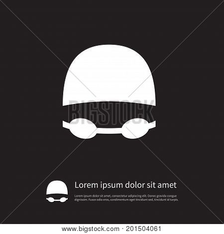 Goggles Vector Element Can Be Used For Goggles, Swimming, Suit Design Concept.  Isolated Swimming Suit Icon.