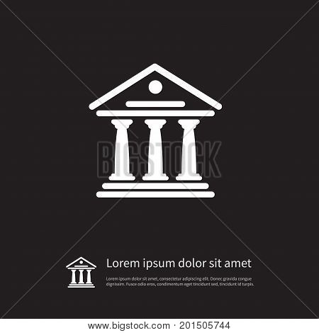 Theater Vector Element Can Be Used For Academy, Courthouse, Theater Design Concept.  Isolated Courthouse Icon.