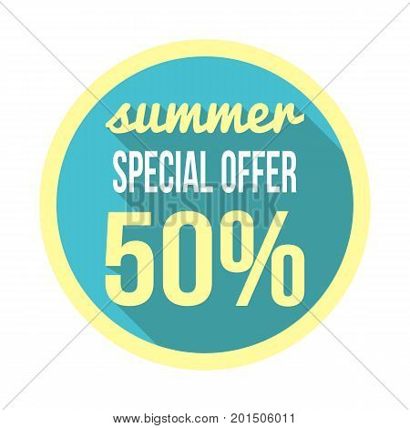 Special Summer Offer Sales Discount Vector Picture
