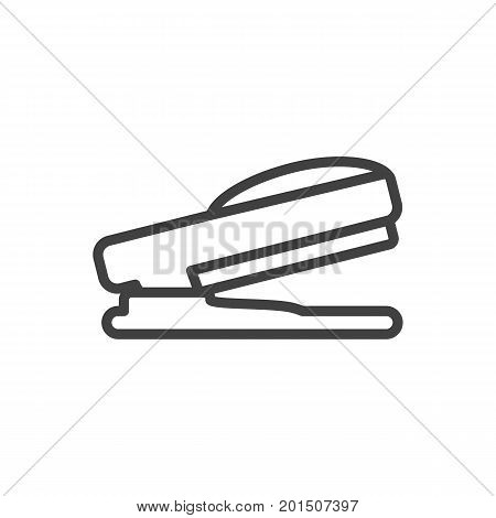 Vector Puncher Element In Trendy Style.  Isolated Stapler Outline Symbol On Clean Background.