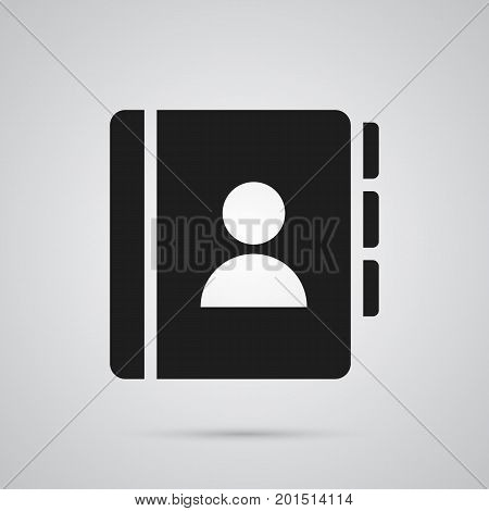 Isolated Telephone Directory Icon Symbol On Clean Background