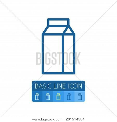 Paper Box Vector Element Can Be Used For Milk, Pocket, Breakfast Design Concept.  Isolated Pocket Milk Outline.