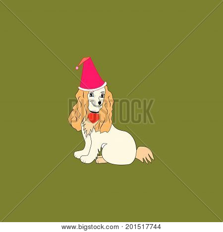 Dog is a symbol of the Chine New Year. Fashion graphic background design. Modern stylish abstract texture. Colorful template for prints textiles wrapping wallpaper etc. Vector illustration