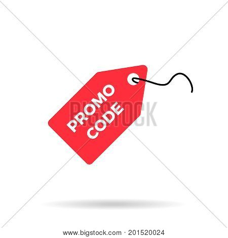 Red discount label sale price tag icon promo code icon