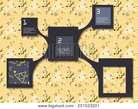 vector inforaphic elements  with shadows. Retro style design templates for your info.  vector design. Eps10
