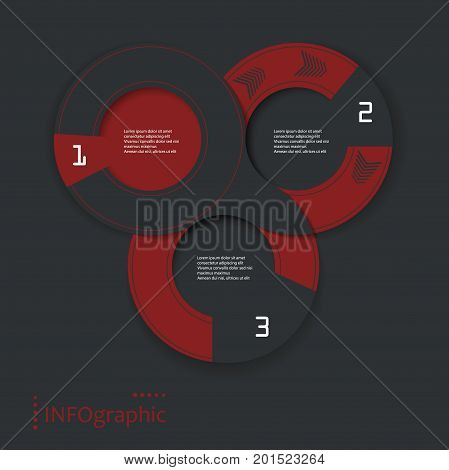 infographic vector round design with shadows . Bright template for your work. Eps10
