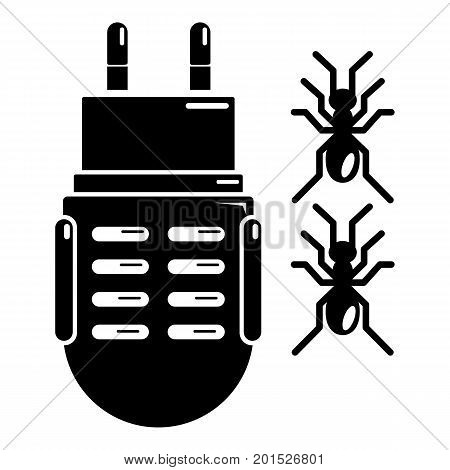 Electric mosquito icon. Simple illustration of electric mosquito vector icon for web