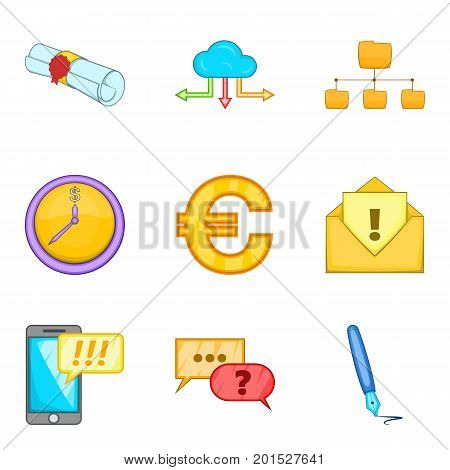 Visibility icons set. Cartoon set of 9 visibility vector icons for web isolated on white background