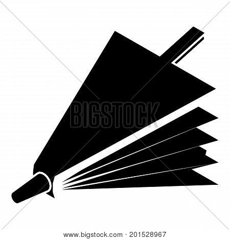 Fire bellows icon. Simple illustration of fire bellows vector icon for web