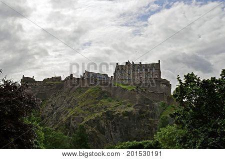 Beautiful view of Edinburgh Castle in Edinburgh, Scotland, UK.