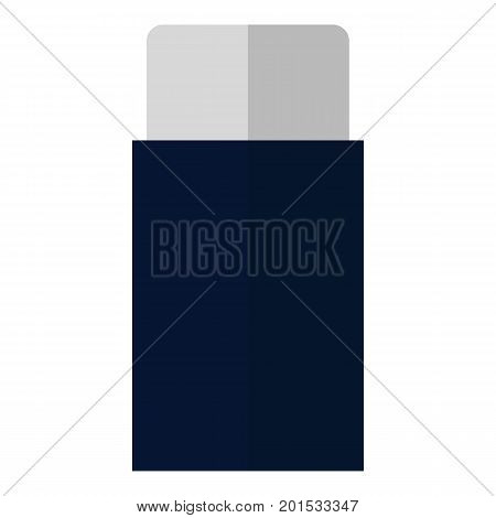 Eraser school and office supplies flat icon, vector sign, colorful pictogram isolated on white. Symbol, logo illustration. Flat style design