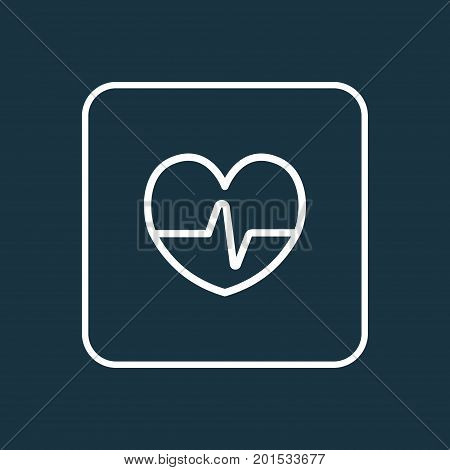 Premium Quality Isolated Heartbeat  Element In Trendy Style.  Pulse Outline Symbol.