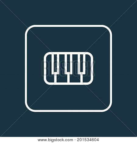 Premium Quality Isolated Keys Element In Trendy Style.  Piano Outline Symbol.