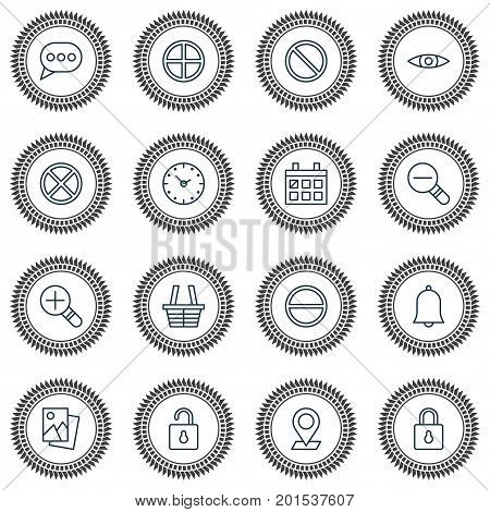 Icons Set. Collection Of Calendar, Obstacle, Pinpoint And Other Elements
