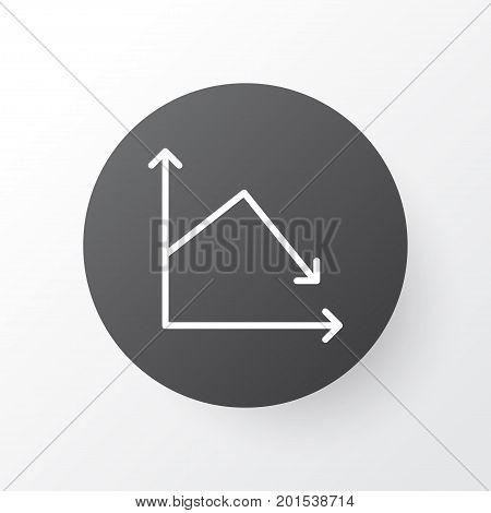 Premium Quality Isolated Decline Element In Trendy Style.  Decrease Icon Symbol.