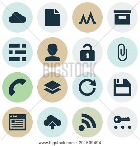 Interface Icons Set. Collection Of Wifi, Pin, Quest And Other Elements