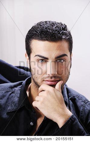 Portrait Of Beautiful Man