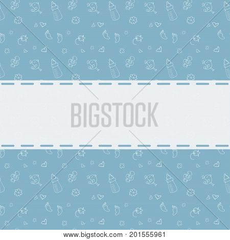 Newborn Background with place for text. Baby shower, greeting card.Stock vector illustration