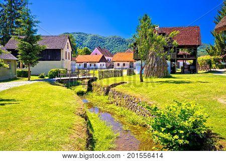 Kumrovec Picturesque Village In Zagorje Region Of Croatia