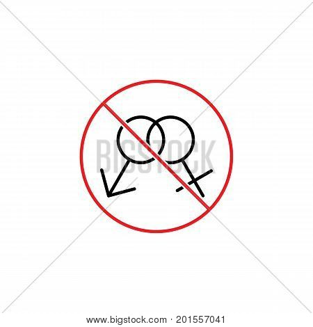 No Sex Sign On White Background