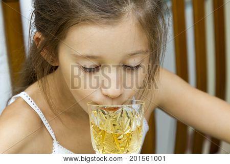 The Girl Drinks Shabatnee Wine