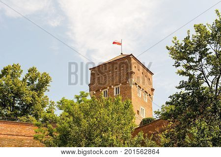 Tower of Wawel Castle in Krakow (Poland)