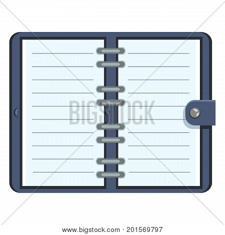 Vector Organizer With Blank Lined Pages