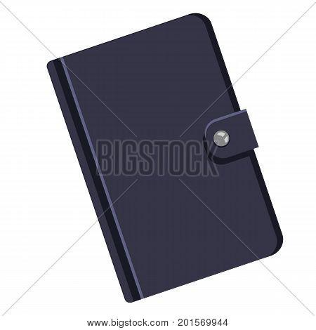 Vector Single Cartoon Black Leather Diary