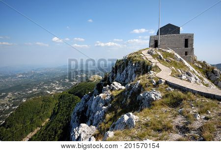 Mausoleum of Petar Petrovic Njegos in Montenegro, Europe