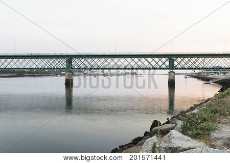 Eiffel bridge in Viana do Castelo, north of Portugal