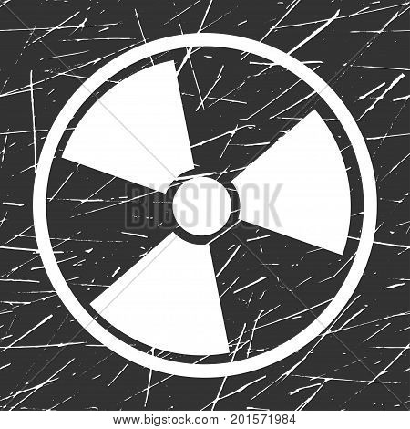 Vector nuclear sign representing the danger of radiation,