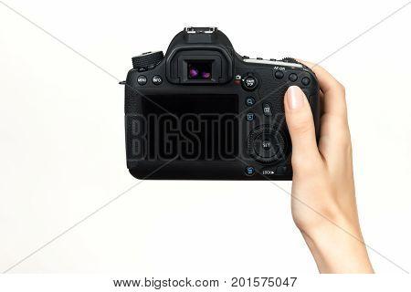 Dslr Camera In Hand