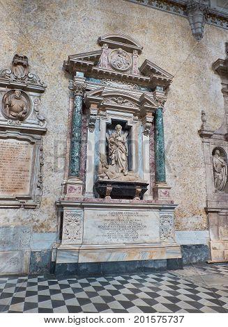Chiesa Del Gesu Nuovo Church In Naples, Campania, Italy.