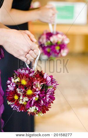 fuchisa ball bouquets