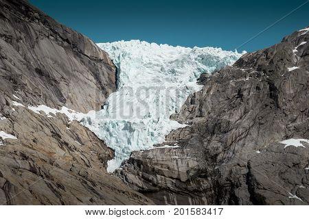 Briksdal glacier in western part of Norway