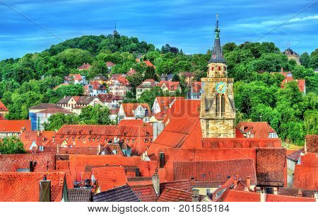 View of the historical center of Tubingen - Baden Wurttemberg, Germany.