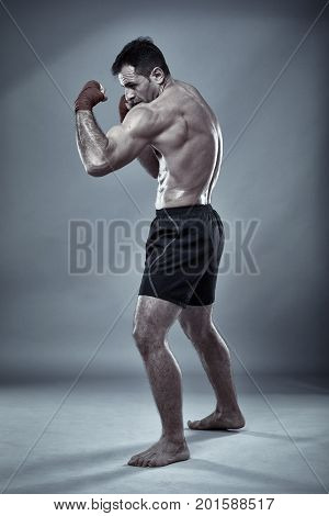 Muay Thai Fighter Shadow Boxing