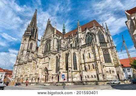Dom St. Peter, the Cathedral of Regensburg in Bavaria, Germany